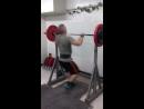 А.Хрулёв. Армейским жим 92,5 кг. Личный рекорд.