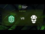 MUST SEE OG vs AD Finem, Game 3, Grand Final - The Boston Major