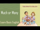 'Much' and 'Many' - Learn American English
