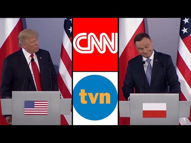 Donald Trump miażdży CNN, a Andrzej Duda TVN i B. Komorowskiego rykoszetem - rozmowa o fake news