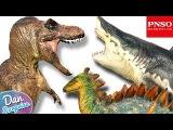 8 GIANT DINOSAUR TOYS - Jurassic T-REX Tyrannosaurus Rex Basilosaurus Megalodon from PNSO