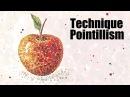 Speed Painting   Technique Pointillism   Apple   Gouache   IOTN