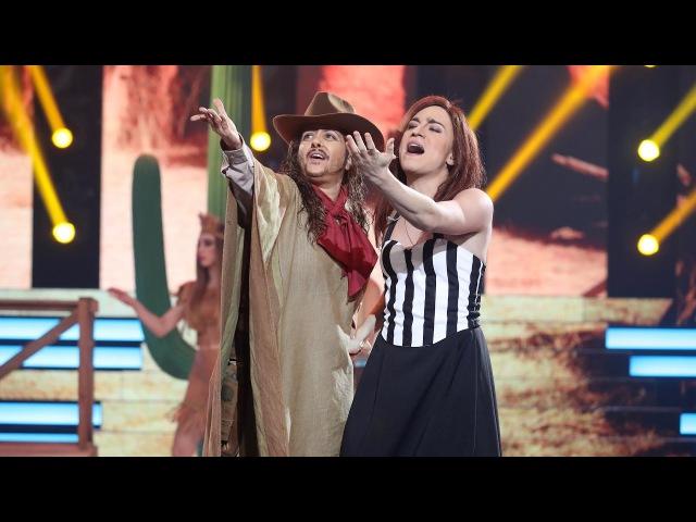 Yolanda Ramos y Carlos Marco imitan a Camela - Tu Cara Me Suena
