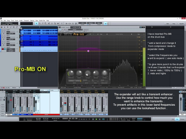 Add more punch to your drums using expanders FabFilter Pro MB 0 Minutes Mixing Tip 0