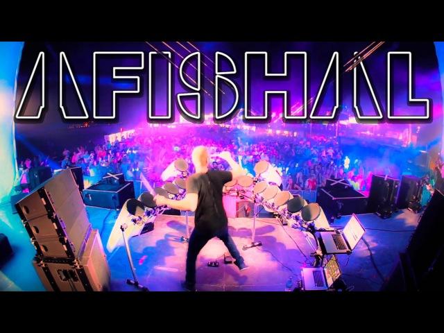 AFISHAL remixing Martin Garrix, Knife Party Martin Solveig LIVE