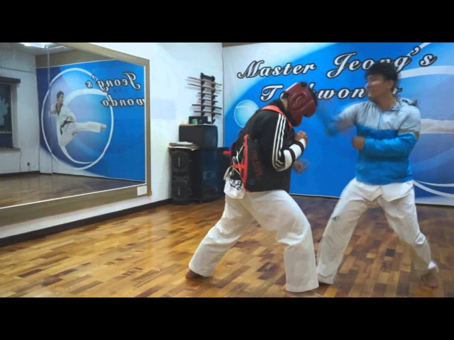 Taegeuk 5 Jang and the application Master Jeong's Taekwondo 跆拳道 淸志會 中洞道場