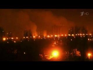 Сильнейшим ракетным обстрелам изсистем залпового огня ночью подвергся Донецк