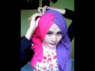 HIJAB TUTORIAL / Как завязывать повязывать надевать одевать хиджаб платок мусульманка