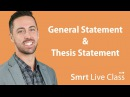 General Statement Thesis Statement English for Academic Purposes with Josh 2