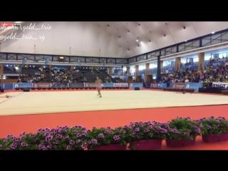 Арина Аверина, булавы (многоборье) // Гран-При Марбелье 2017.