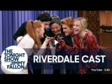 The Cast of Riverdale and Jimmy Kick Off the Riverdale Milkshake Challenge [RUS SUB]