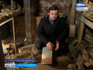 В подвалах Выборгского замка обнаружили несколько стеллажей со старинными печными изразцами