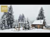 Сильный снегопад прошел во многих районах Синьцзян-Уйгурского автономного района