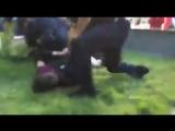 США. Разгон протеста против нападения Штатов на Сирию 08.04.2017