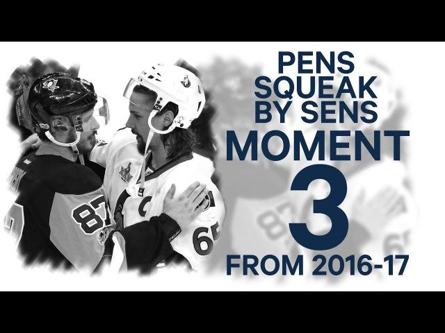 No. 3/100: Penguins squeak by Senators in 2OT