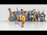 Overwatch Tracer Dance Emote Animated Wallpaper 1080p FULLHD