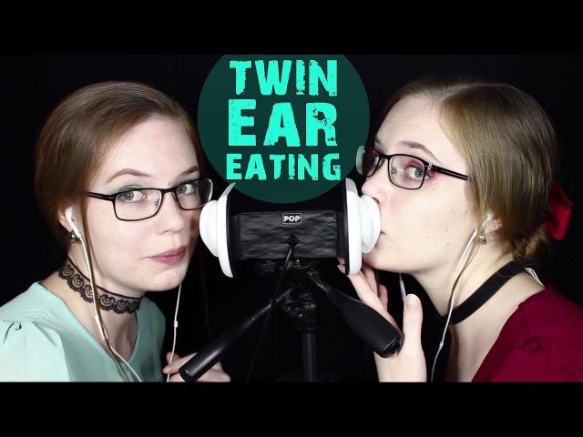 FINALLY ⚡️ Twin Ear Eating ⚡️ Breathy, w/Mouth Sounds ⚡️ Binaural HD ASMR