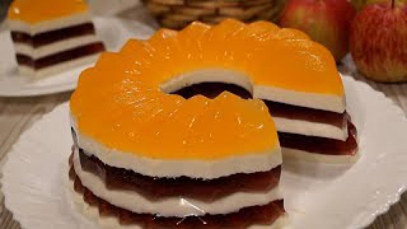 Торт Полосатик без Выпечки