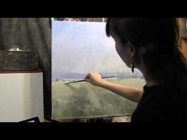 Копируем картину Клода Моне, импрессионизм