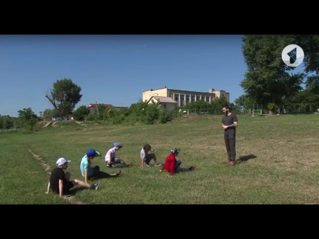 Юные танцоры на городском пляже Тирасполя / Утренний эфир