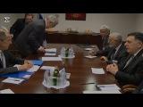 Sergey Lavrov and Fayez al Sarraj