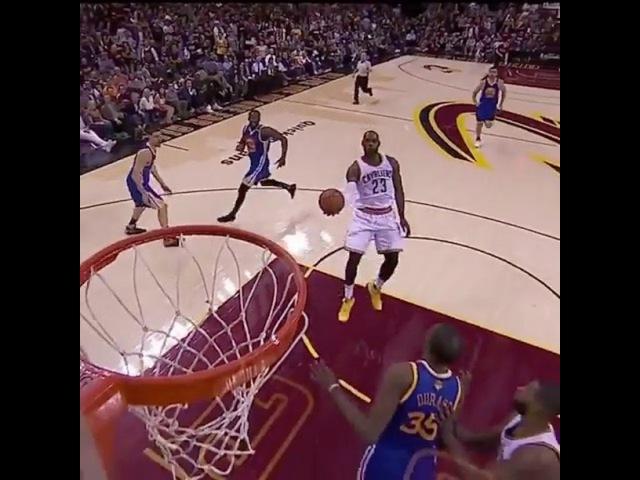 LeBron James alley oop to himself