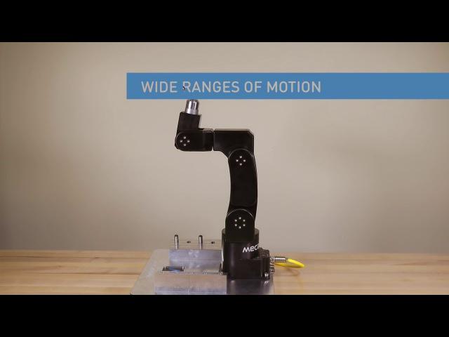 Высокоточный малогабаритный 6 осевой промышленный робот-манипулятор