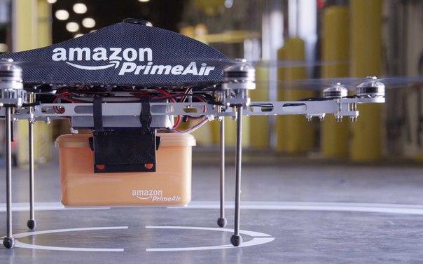 Дроны Amazon начнут спускать груз на парашютах