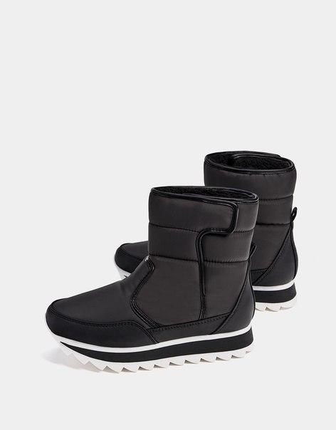 Стеганые ботинки из высокотехнологичной ткани, на подкладке
