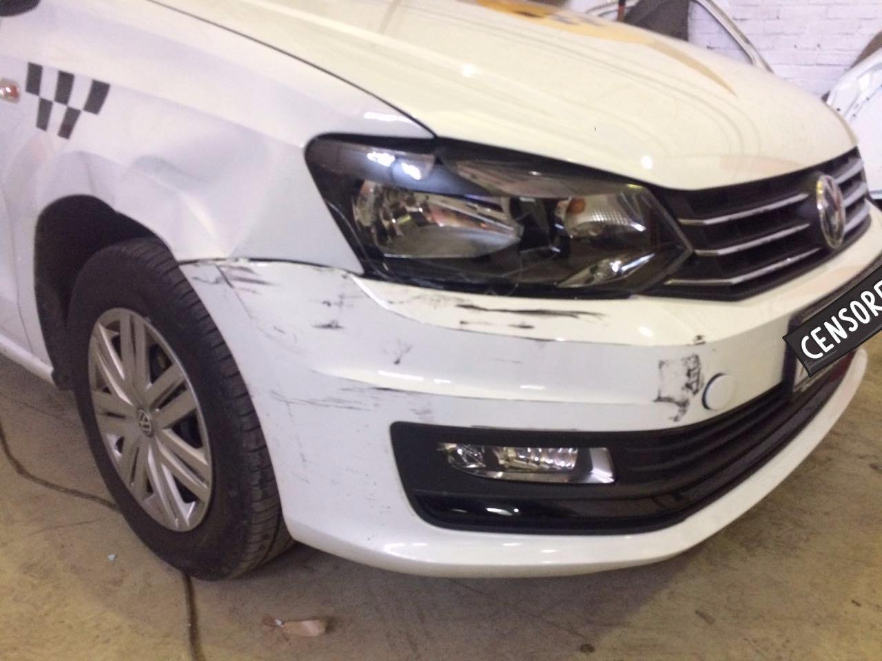 Ремонт машины Yandex такси в СПб