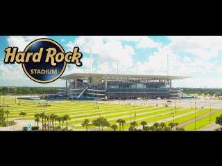 Аэросъемка Хард Рок Стэдиум в Майами. Miami Dolphins
