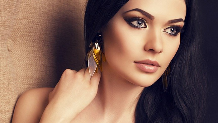 макияж для брюнеток с карими глазами фото