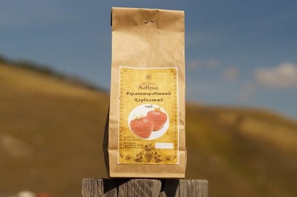 Клубничный (листья клубники) ферментированый чай 100 гр