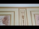 Поклейка плинтуса молдинга багета. Изготовление кессонов
