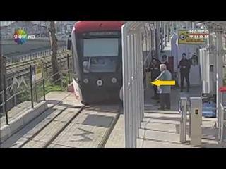 Dikkatsiz Samsun halkının tramvay ile imtihanı...