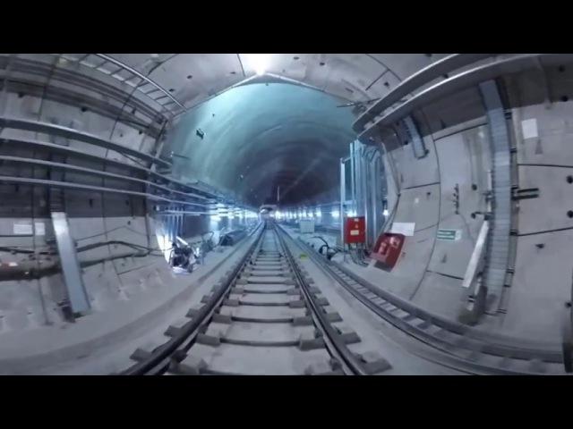 Crossrail railway systems: 360° journey through Stepney Green cavern