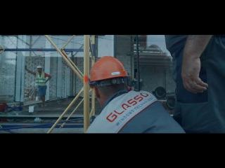Монтаж фасада с МЕГА стеклопакетами - GLASSO ГЛАССО