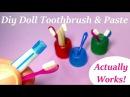 DIY Miniature Doll Toothbrush, Holder, Working Toothpaste - Bathroom Accessories