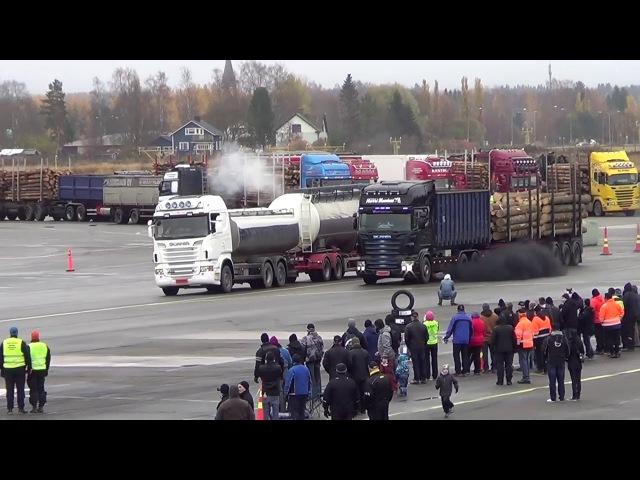 Truck Dragrace in Kauhava Airport Finland 21.10.2017