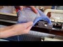 Как вязать панчлейс или ложный ажур на вязальной машине. Панчлейс на бразере
