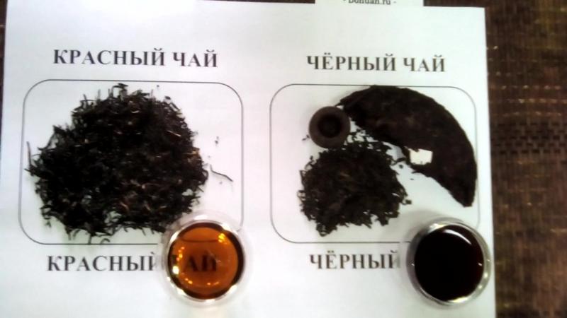 Итог сравнения красного и черного чая