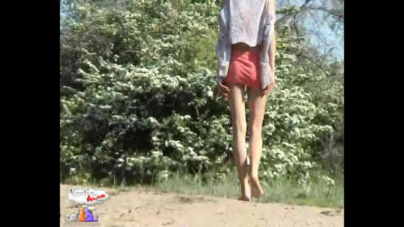 Nastia Mouse - Cuties On The Road - Tight Thin Young Teen Model Outdoors Showing Off - Pink Skirt