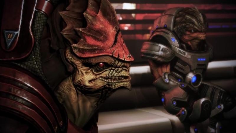 Mass Effect 3 Citadel DLC- Shepard. Wrex. Grunt.