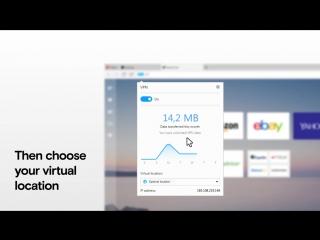 Как включить бесплатный VPN в Opera для компьютеров?