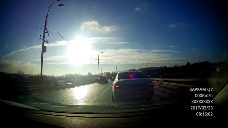 2017-03-23. Бесединский мост через МКАД. Поспешил - людей насмешил