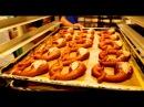Видео из пекарни подовый хлеб, брецель, биглс, круассаны и др. выпечка.