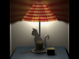3DS MAX Realistic Lamp Shade - Cast light through shade onto wall.