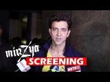 Hrithik Roshan At Harshvardhan Kapoors Mirzya Movie Screening