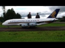 Gigantic Radio controlled Airbus Modell A-380 with 4x Kerosene Turbines