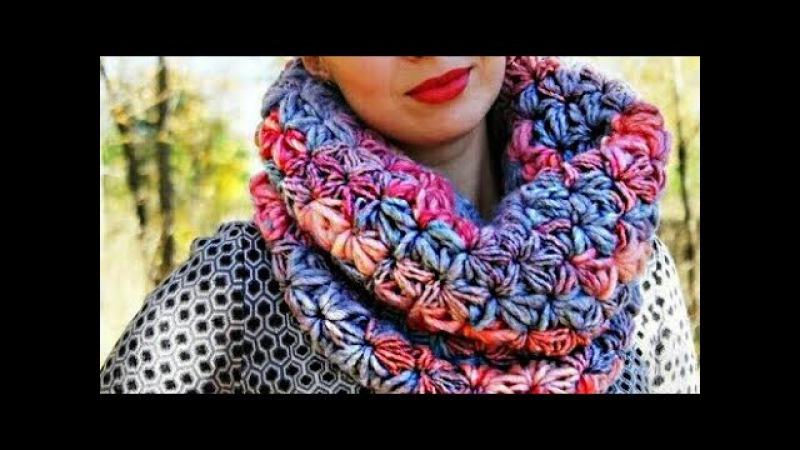 Снуд крючком. простой СНУД. мастер-класс своими руками knitting вязание how to crochet handmade